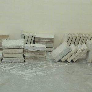 """Pre installation image of """"Aleph's Library"""", 1000 cured books, 2017"""