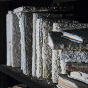 (Detail), installation at Pasio, 1000 cured books, iron, wood, overall size: 250 x 250 x 900 cm, 2017